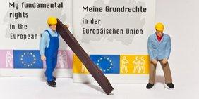 Figuren Forderung Meine Grundrechte in der EU